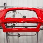 painted and repaired body panel