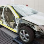Car inside of paint booth